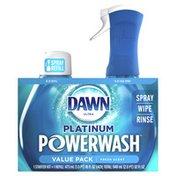 Dawn Platinum Dish Spray, Dish Soap, Fresh Scent Bundle