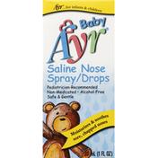 Ayr Saline Nose Spray Drops
