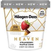 Haagen-Dazs Heaven Strawberry Waffle Cone Light Ice Cream