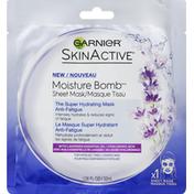 Garnier Sheet Mask, Moisture Bomb, with Lavender Essential Oil + Hyaluronic Acid
