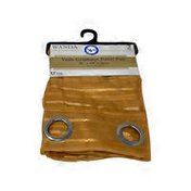 """RT Designers Collection Wanda Box Voile Grommet Curtain Panel Pair - Gold - 76"""" x 84"""""""