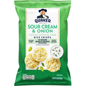 Quaker Rice Crisps, Sour Cream & Onion