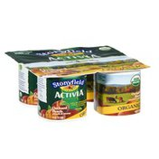 Activia Stonyfield Organic Activia Orchard Peach Lowfat Yogurt - 4 CT