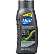 Dial Body + Hair + Face Wash, 3 in 1, Cedar Leaf, Recharge