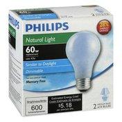 Philips Light Bulbs, Natural Light, 43 Watts