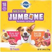 Pedigree Variety Pack Medium Real Beef Flavor/Bacon Flavor Dog Treats