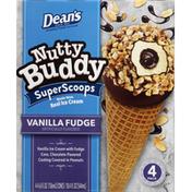 Friendly's Ice Cream, Vanilla Fudge, Super Scoops, 4 Pack