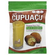 Amafruits Pure & Unsweetened, Premium Fruit Puree, Cupuacu, Bag