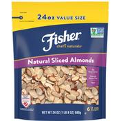 Fisher Almonds, Natural Sliced, Value Size