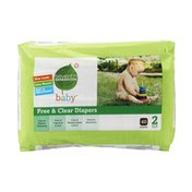 Seventh Generation Diapers, Size 2 (12-18 lbs), Chlorine Free