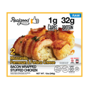 Real Good Foods Three Cheese Bacon Wrapped Stuffed Chicken