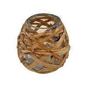 Debi Lilly Grass Wrapped Candle Holder