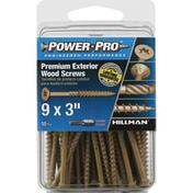 Power Pro Wood Screws, Premium, Exterior, 3 Inches