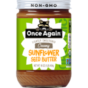 Once Again Sunflower Seed Butter, Creamy, Lightly Sweetened, Organic