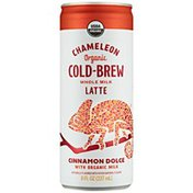 Chameleon Organic Cinnamon Dolce Flavored Whole Milk Latte Cold Brew Coffee