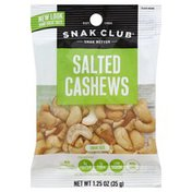 Snak Club Cashews, Salted, Snak Size