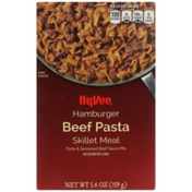 Hy-Vee Hamburger Beef Pasta & Seasoned Beef Sauce Mix Skillet Meal
