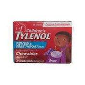 Tylenol Children's Fever Reducer Tablets