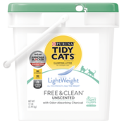 Purina Tidy Cats Light Weight, Low Dust, Clumping Cat Litter, LightWeight Free & Clean Unscented, Multi Cat Litter