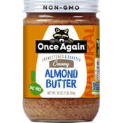 Once Again Almond Butter, Creamy, Unsweetened & Roasted, Natural