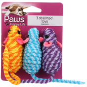 Paws Happy Life 3 Assorted Toys For Cats