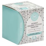 The Honest Company Tampons, Organic Cotton, with Plant-Based Compact Applicator, Regular Absorbency