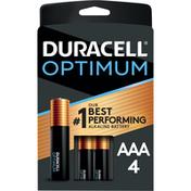 Duracell Batteries, Alkaline, AAA, 4 Pack
