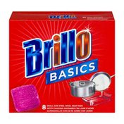 Brillo Basics Small Size Steel Wool Soap Pads - 8 CT
