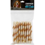 Companion Rawhide Twists Chicken Dog Chews 5 Inch Bones