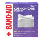 Band-Aid Brand Of First Aid Products Cushion-Care Gauze Pads, 3 Inches By 3 Inches