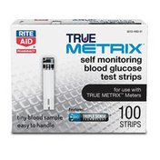 Rite Aid TrueMETRIX Test Strips, 100ct