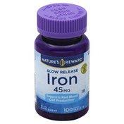 Nature's Reward Iron, 45 mg, Coated Tablets