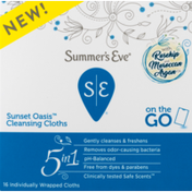 Summer's Eve 5 in 1 Sunset Oasis Cleansing Cloths