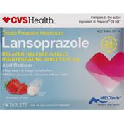 CVS Health Lansoprazole, 15 mg, Tablets, Strawberry