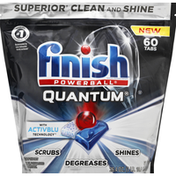 Finish Dishwasher Detergent, Automatic, Quantum, Tabs