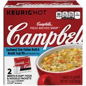 Campbell's Southwest Style Chicken Broth & Noodle Mix Fresh-Brewed Soup