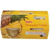 Hy-Vee Pineapple Tidbits In Lightly Sweetened Coconut Water