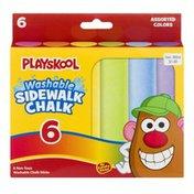 Playskool Washable Sidewalk Chalk - 6 CT