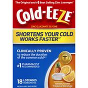 Cold-Eeze Zinc Gluconate Glycine, Lozenges, Natural Flavor Tropical Orange
