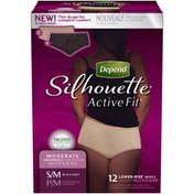 Depend Silhouette Active Fit Women's S/M Moderate Absorbency Underwear