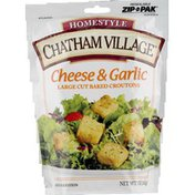 Chatham Village Cheese & Garlic Flavored Large Cut Baked Croutons