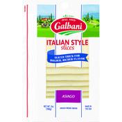 Galbani Cheese Slices, Asiago, Italian Style