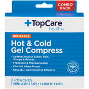 TopCare Hot & Cold Gel Compress Soothes Muscle Aches, Pain, Bumps & Bruises Reusable Large Pouch