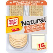 Oscar Mayer Meat & Cheese Snack Plate with Buffalo Style Chicken, Jack Cheese & Whole Wheat Crackers