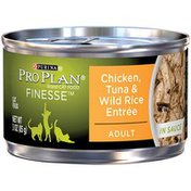 Purina Pro Plan Finesse Chicken, Tuna & Wild Rice Entree Adult Cat Food in Sauce