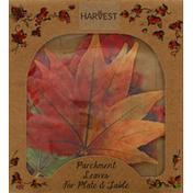 Harvest Parchment Leaves