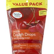 Signature Care Cough Drops, Menthol, Cherry, Value Pack