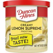 Duncan Hines Frosting, Creamy, Lemon Supreme