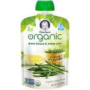 Gerber Organic 2 Nd Foods Organic Green Beans & Sweet Corn Baby Food