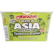Maruchan Ramen Noodle Soup, Tonkotsu, Hearty Pork Flavor, Bowl